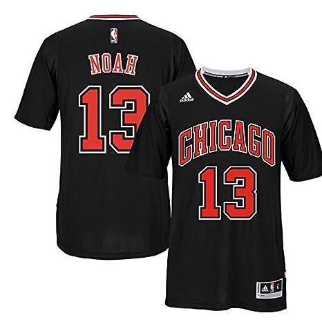 bab6a3da387 Image Unavailable. Image not available for. Color: Chicago Bulls Joakim  Noah Adidas Black 2014-2015 Short Sleeve Swingman Jersey