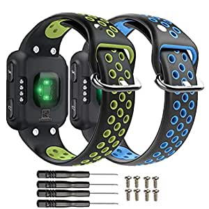 T-BLUER Compatible for Garmin Forerunner 35 Strap,Breathable Silicone Replacement Wristband Bracelet Accessory Compatible for Garmin Forerunner 35 Smart Watch Band