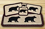 Cabin Bear Wicker Weave Table Top Set - 12 Piece