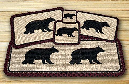 Cabin Bear Wicker Weave Table Top Set - 12 Piece by Heart of America