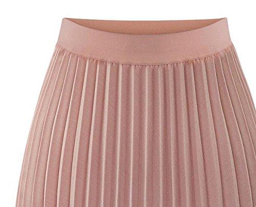 GDS Cintura faldas largas faldas primavera las mujeres en slim falda plisada de gasa vestido de mujer , s