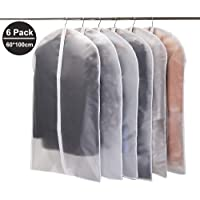 Niviy Garment Covers Dustproof Clothes Covers with Zip,Pack of 6