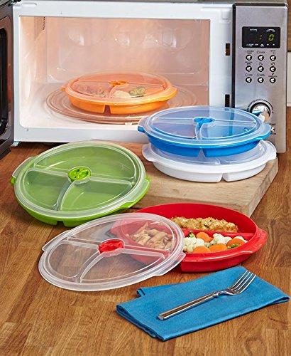 Set of 5 Divided Food Storage Plates (Plate Storage Divided Set)