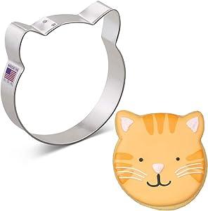 Ann Clark Cookie Cutters Cat Face Cookie Cutter, 4