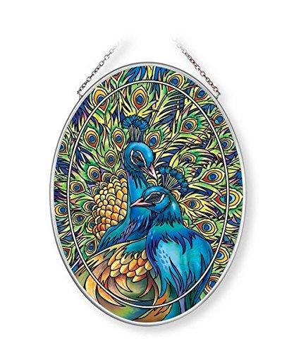 Amia Blue Rhapsody, Peacock Glass Suncatcher ()