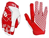 Seibertron Pro 3.0 Elite Ultra-Stick Sports Receiver Glove Football Gloves Youth and Adult (Red, L)