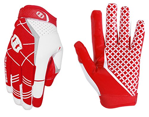 Seibertron Pro 3.0 Elite Ultra-Stick Sports Receiver Glove Football Gloves Youth and Adult (Red, M) (State Football Youth Ohio Gloves)