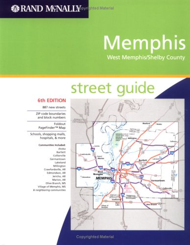 Rand Mcnally Memphis: West Memphis/Shelby County, Street Guide