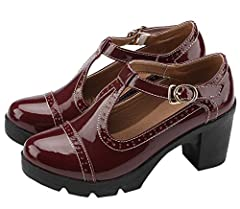 Material: Synthetic Sole: Rubber Style:Casual fashion Heel High: About 7cm Closure Style: Buckle Color:As picture(Black,Wine Red,Apricot) Thin leg, fashion, comfortable, joker, classic. Tide female necessary style.Increased 7 cm, long legs at...