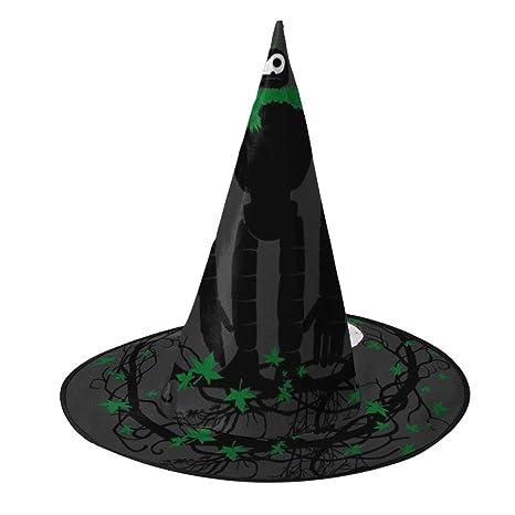 OJIPASD Castillo en el Cielo Robot Bruja Sombrero Halloween Unisex ...