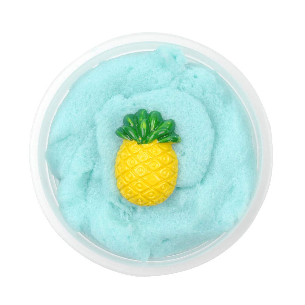 BODOAO Slime Fluffy Slime 60ML Mixing Cloud Slime Pineapple Putty Scented Stress Kids Crystal Clay Toy