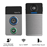 Wireless Doorbell Kit- Wireless Door Chime w/ Voice Message Function, Stylish Wireless Chime kit with Up to 1000Ft Operating Range, LED Indicator, Multiple Chimes, Volume Adjustable for Home, Office