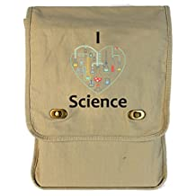 Dancing Participle I Heart Science Putty Canvas Field Bag