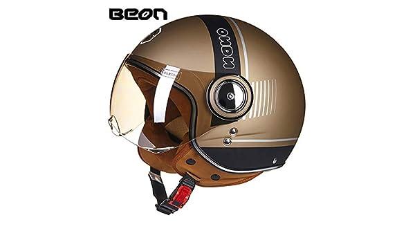 Amazon.com: Loyasun Motorcycle Helmet Chopper 3/4 Open Face Vintage Moto Men and Women Scooter Motorbike: Sports & Outdoors