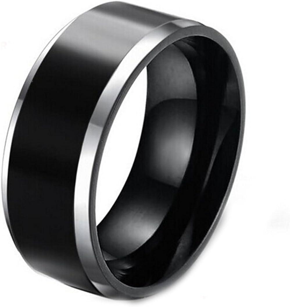 Gudeke Joyería de 8 mm Negro Plateado celta anillo de carburo de tungsteno para hombre