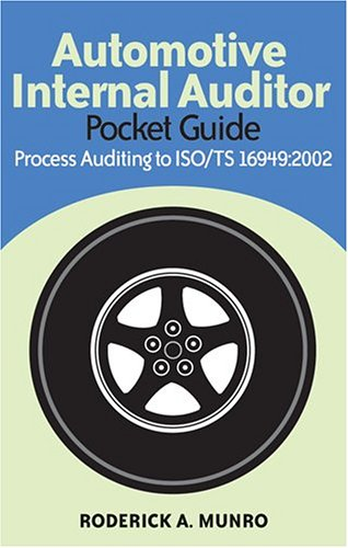 Automotive Internal Auditor Pocket Guide: Process Auditing to Iso/ts 16949:2002