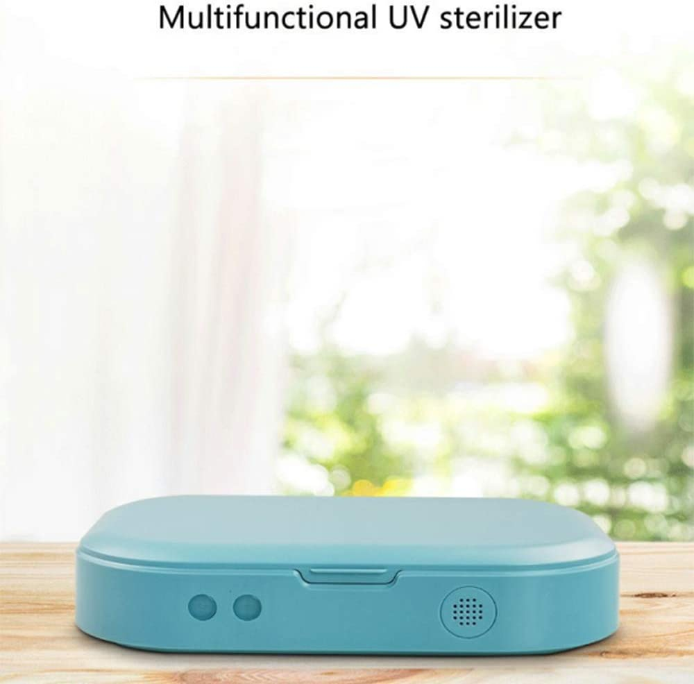 Phone Toothbrush Jewelry Watches Glasses Cleaner Case Blue Aromatherapy Function Disinfector Gucloudy Portable UV Light Smart Phone Sterilizer UV Cell Phone Sanitizer