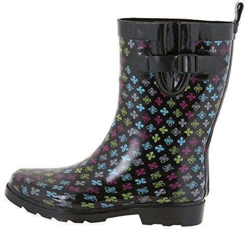 Two Geo Rain Combo Tone Capelli Rubber Boot New Calf York Mid Multi Ladies SwnTFaqg