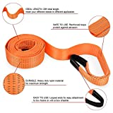 "Recovery Strap, YITAMOTOR Tow Strap 3"" x 20' Heavy Duty 30000 lb Off Road Towing Rope Tree Saver Winch Strap with Storage Bag"