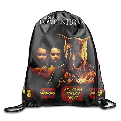 CardlyPhCardH Drawstring Backpack Gym Sack Pack Holiday Halloween Movie Gift Bags Holiday Halloween Movie2 Lightweight Unique 16.9x14.2 - -