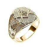 Men's Solid 10k Yellow Gold Scottish Rite Masonic Ring