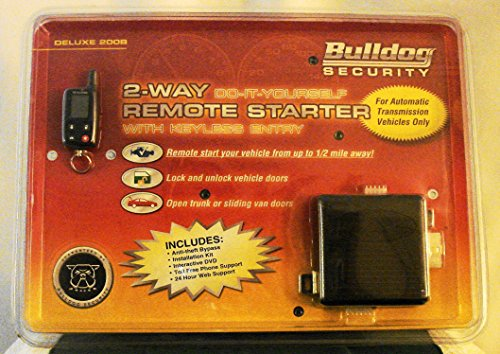 Bulldog Security 2-Way Do-it-Yourself Remote Vehicle Starter with Keyless Entry & 1/2 Mile Range