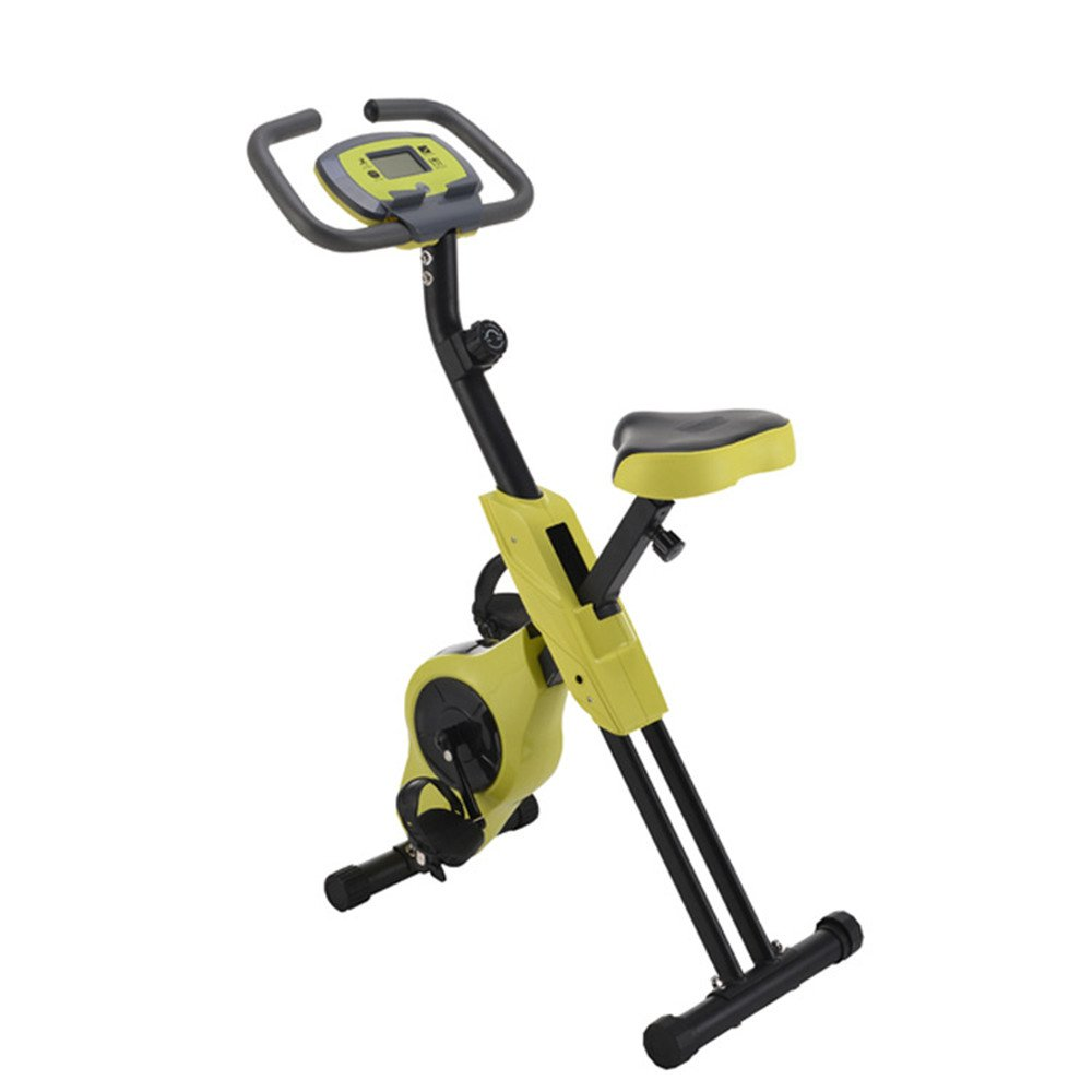 Yellow Spinning Bicycle XType Indoor Foldable Magnetic Control Indoor Office Exercise Bike,Gym at Home