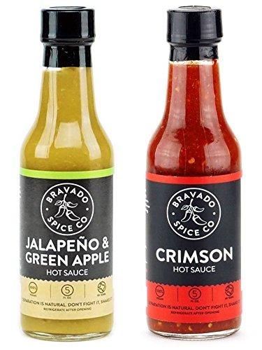 Bravado Spice Co. Hot Sauce 5 oz Bottles Gift Set (CRIMSON + JALAPEÑO) by Unknown