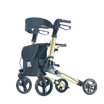 Andador con asiento con ruedas, andador con ruedas plegable ...