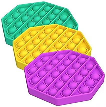 Square, Blue Push Pop Bubble Fidget Sensory Toys,Trade Horse Bubble Popping Sensory Toy Autism Special Needs Stress Reliever Anxiety Relief Silicone Squeeze Tools for Adult Women Kids Family