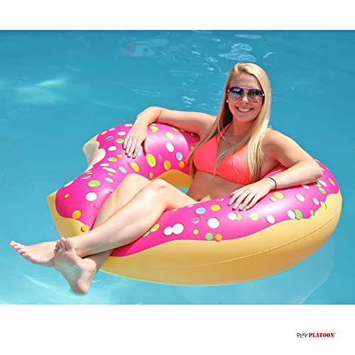 Play Platoon Jumbo Donut Pool Float Gigantic Pink Donut