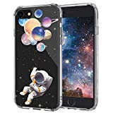 MOSNOVO iPhone 8 Case, iPhone 7 Clear Case, Astronaut Planet Pattern Printed Clear Design Transparent Plastic Back Case with TPU Bumper Protective Case Cover for iPhone 7/iPhone 8
