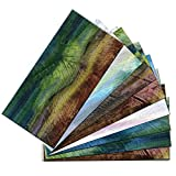 SkinnyTile 4412 ((48-Pack) Peel and Stick Glass Wall Tile, 6'' x 3'', Multicolor