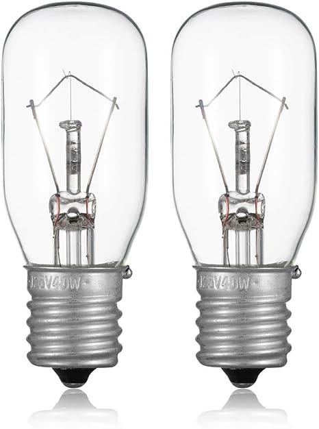2 KENMORE SEWING MACHINE LIGHT BULB 15 watt 5//8/'/' BASE SMALL GLASS FITS MANY