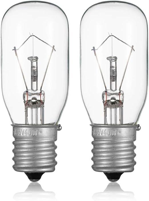 Amazon.com: 2 bombillas de microondas GE WB36X10003-125V 40 ...