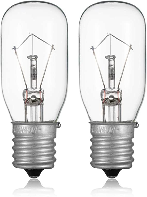 2pcs Microwave Bulb GE WB36X10003-125V 40W Incandescent Lamp Bulbs for Most General Electric, LG, Frigidaire, Kenmore Microwave, Universal Type ...