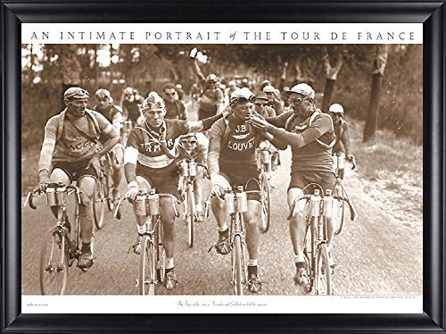 Image Conscious Smokers by Presse 'e SportsA Tour de France Framed Art Picture, Finished Size: 34x26