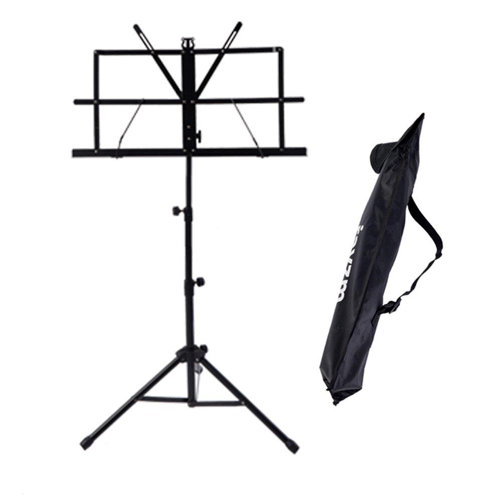 Rayzm Stand/Atril para partituras plegable y portátil con bolsa de transporte, altura ajustable