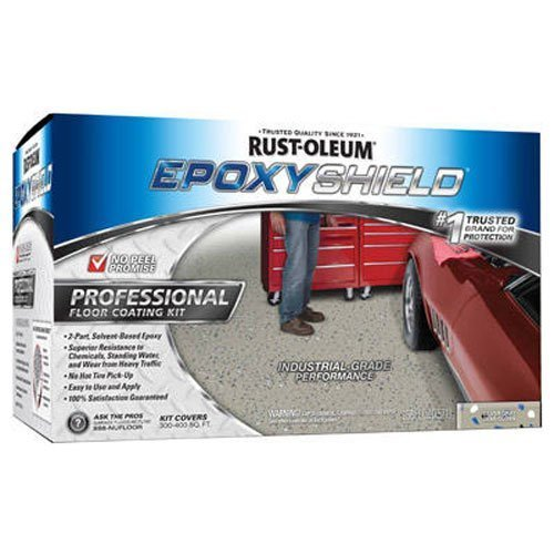Rust-Oleum 203373 Professional Floor Coating Kit, Silver Gray - 2 Pack