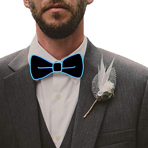 Fixinus LED Light Up Bow Tie Perfect for