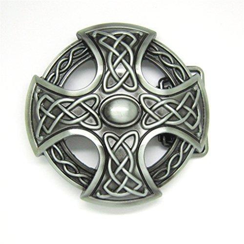 MASOP Round Celtic Cross Knot Belt Buckle Vintage Retro Keltic Germanic Belt Buckles