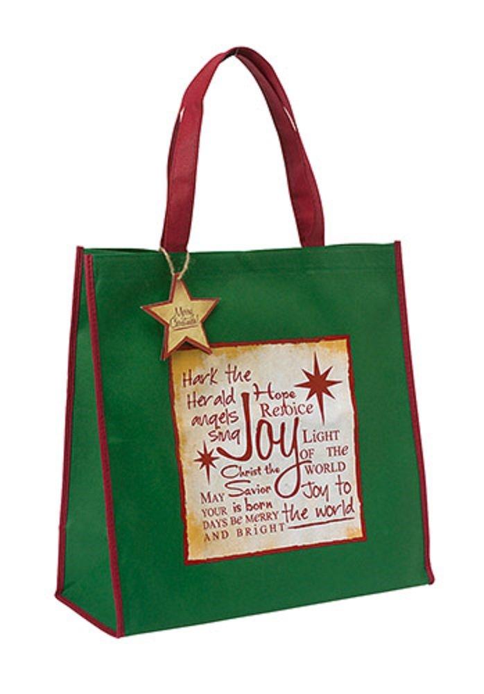 AT001 Set of 6 Green Joy Written Reflections Tote Bag,