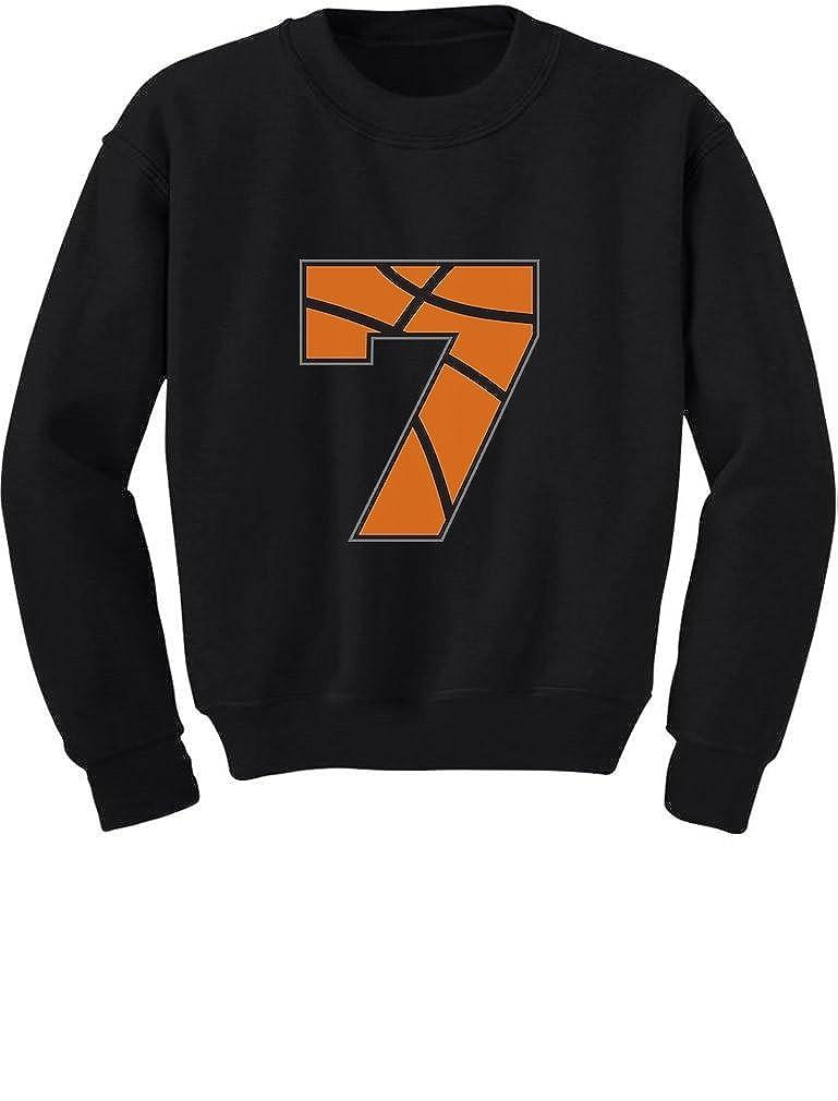 Tstars Basketball 7th Birthday Gift for Seven Year Old Toddler//Kids Sweatshirt