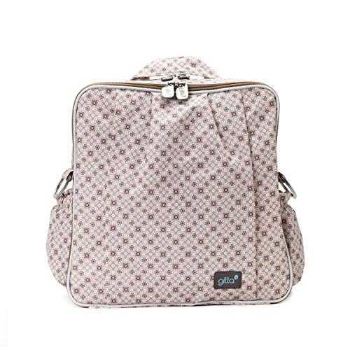 - Gitta Beauty Diaper Bag Backpack - Multi-Function Waterproof Stylish Travel Tote with Stroller Strips for Diapers, Baby Supplies - Includes Wipeable Changing Mat, Printed Camel