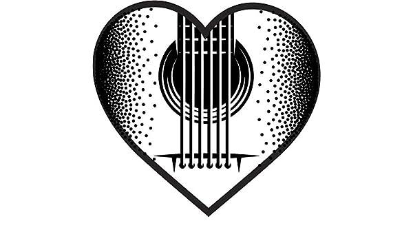 Amazon Com Simple Black White Guitar Pick Cartoon Art Vinyl Sticker 2 Tall Heart Pick White Automotive