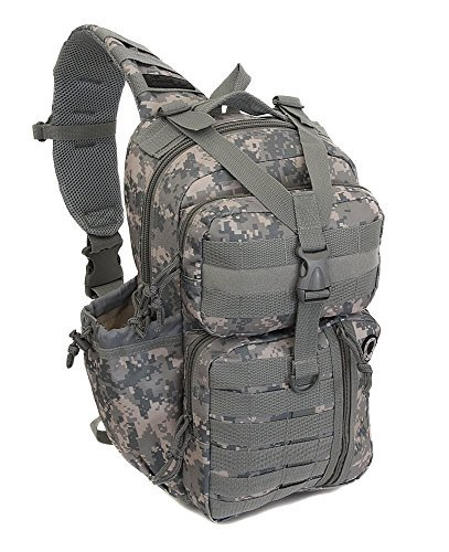 Mens Tactical Gear Molle Hydration Ready Sling Shoulder Backpack Daypack Bag