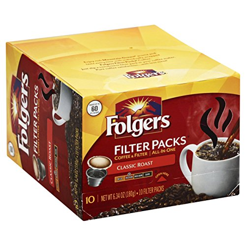 - Folgers Classic Roast Filter Packs Coffee, 10 ct