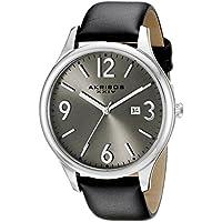 Akribos XXIV Men's AK869SS Round Silver Dial Three Hand Quartz Stainless Steel Strap Watch
