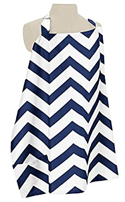 Sweet Jojo Designs Navy Blue and White Chevron Zig Zag Infant Baby Breastfeeding Nursing Cover Up Apron by Sweet Jojo Designs that we recomend individually.
