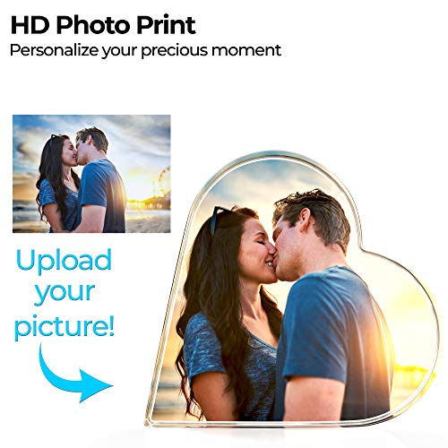 Personalized Photo, Custom Heart Shape with 3D Effect Create Your OWN ForHome Office Kitchen Gift Best Gifts for Wedding and Anniversary (4 Color Process)